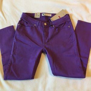 🆕 Levi's Crop Length Legging Purple Jeans size 28